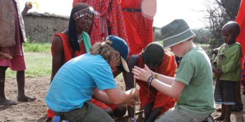 With the Maasai tribe in Kenya.