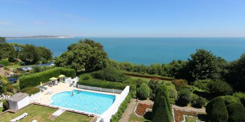 Outdoor pool at Luccombe Hall Hotel.