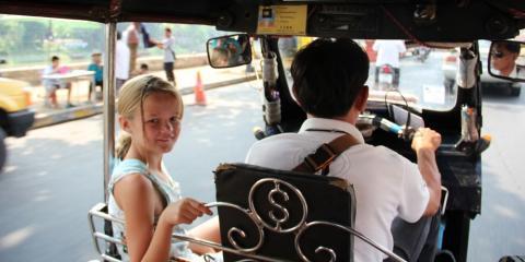 Rickshaw rides in Thailand.