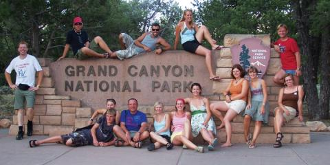 Teenagers at the Grand Canyon.