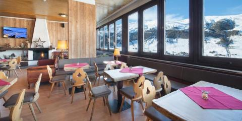 Stunning views from the restaurant at Alpen Village Hotel.