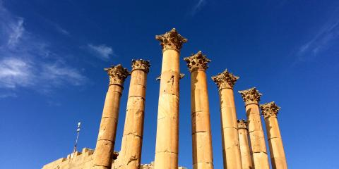 Roman columns at Jerash ©
