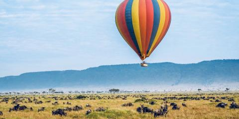 Hot-air ballooning in Kenya
