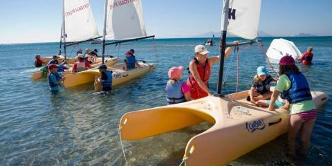 Watersports fun for all ages at Lakitira Beach Resort.