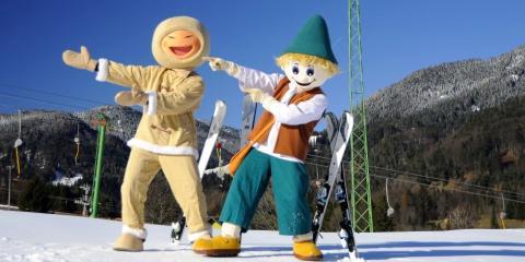 Fun in the snow in Kranjska Gora, Slovenia