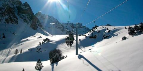 Snowscape at La Mongie.
