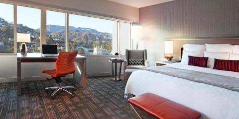 View of the Hollywood Hills from Loews Hollywood Hotel.