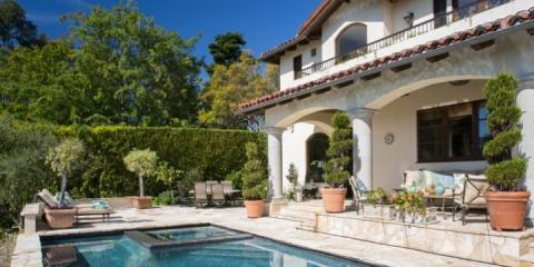 Outdoor pool at Temescal House, Los Angeles.