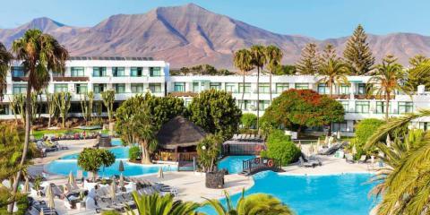 View over Hotel H10 Lanzarote Princess, Lanzarote