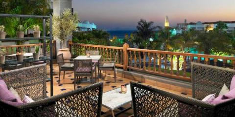 Terrace with a view at Princesa Yaiza Suite Hotel Resort.