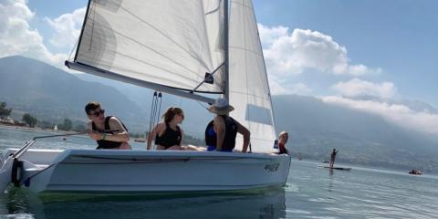 Learning to sail with Mark Warner.