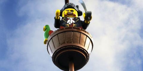Pirate look-out at LEGOLAND Windsor.