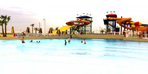 Wave pool and slides at the LEGOLAND® Water Park.
