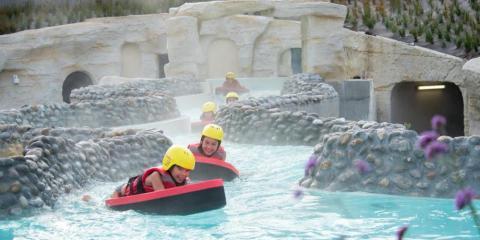 White-water rapids at Center Parcs Le Bois aux Daims.