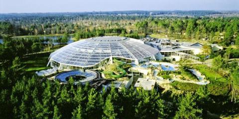 Aerial view of Center Parcs Hauts Bruyeres, Loire Valley