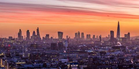 Sunrise over London.