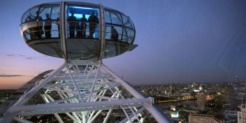 One of the pods on the London Eye