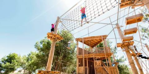 Aerial adventures at Holiday Village Mallorca.