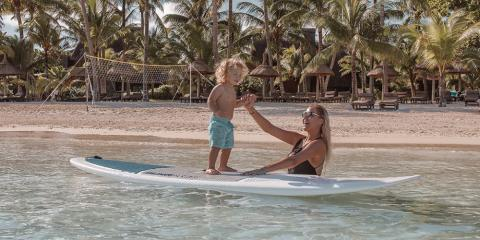 Watersports for the young at Trou Aux Biches Beachcomber.
