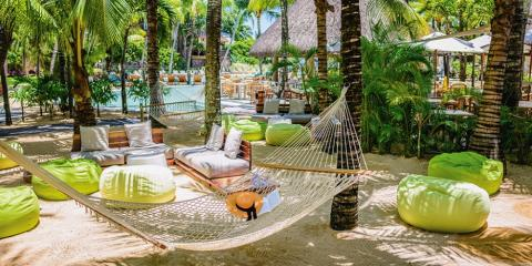 Relaxing areas around Canonnier Beachcomber.