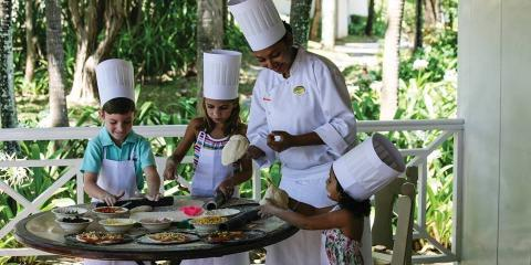 Cookery school for kids at The Residence Mauritius.