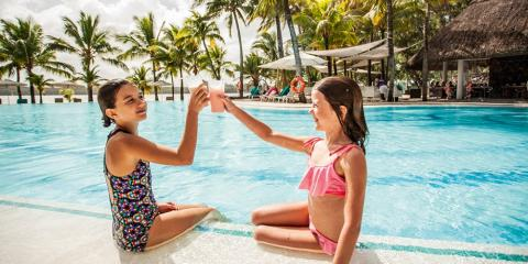 Kick back and relax by the pool at Shandrani Beachcomber.