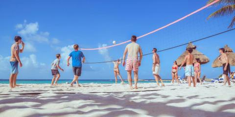 Beach volleyball at Club Med Cancún Yucatán.