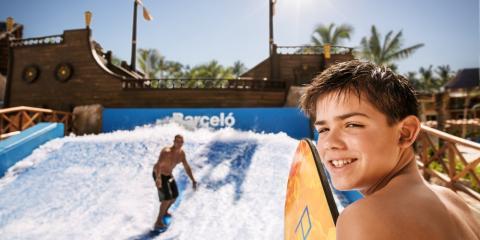 Surf rider at Barceló Maya Beach Resort's waterpark.