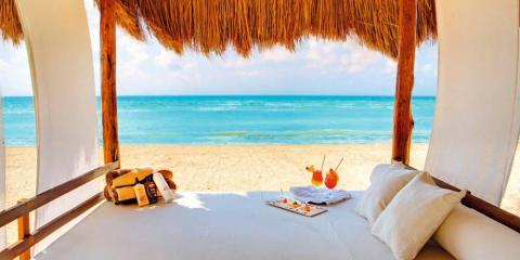 Beach cabana butler service at TUI SENSATORI Riviera Cancun