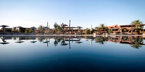 Pool view at the Fellah Hotel.