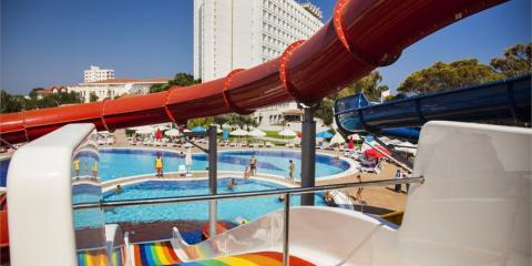 Pool and slides at Salamis Bay.