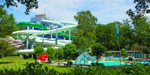 The pool complex at Camping Duinrell