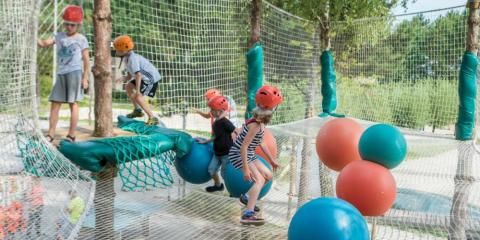 Treetop fun for the younger kids at Center Parcs Het Meerdal.