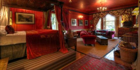 The Red Room at Strattons Hotel.