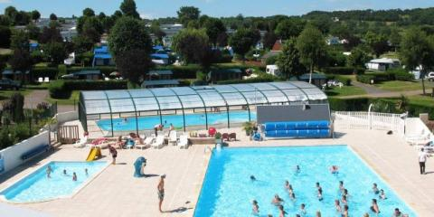 Pool complex at La Vallée Campsite.