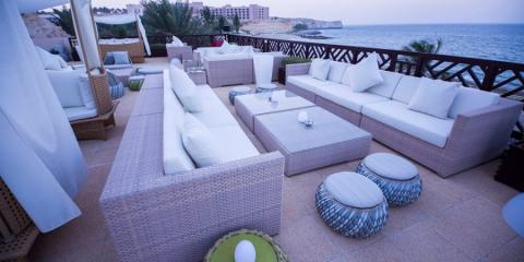 Terrace with a view Shangri-La's Barr Al Jissah Resort.