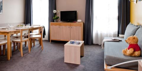 Inside an apartment at Adagio Aparthotel Paris Val d'Europe