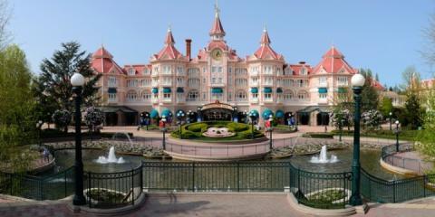 The fairytale façade of Disneyland® Hotel.