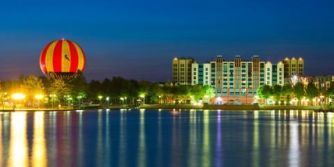Lake view towards Disney's Hotel New York - The Art of Marvel®