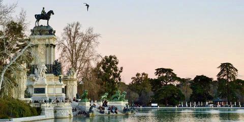 El Parque del Retiro, Madrid.
