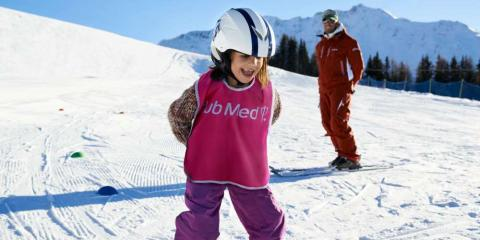Learning to ski with Club Med La Plagne 2100.