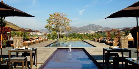 Stunning views from the pool at Aquapura Hotel, Portugal.