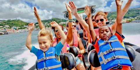 A Powerboat Adventure and Snorkel Tour, Grenada, with Island Routes.