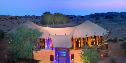 Bedouin-style tented villa at Al Wadi Desert.