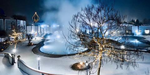 Rogner Bad Blumau Hotel, Austria, in winter.© Rogner-Bad Blumau Hotel & Spa