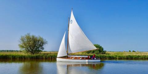 Sailing on the Broads.
