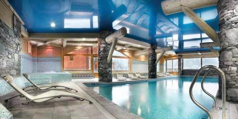 Indoor pool at Les Fermes de Sainte Foy.