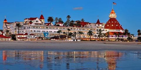 View of Hotel Del Coronado from the sea.