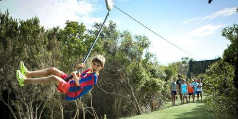 Zip wire fun for the kids at Hotel Valle dell'Erica.
