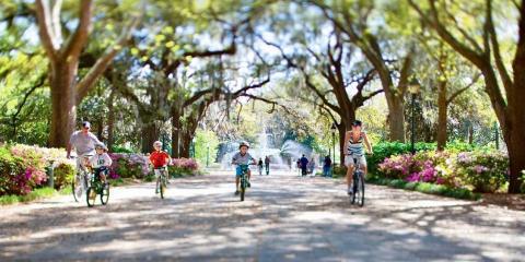 Cycling in Savannah.